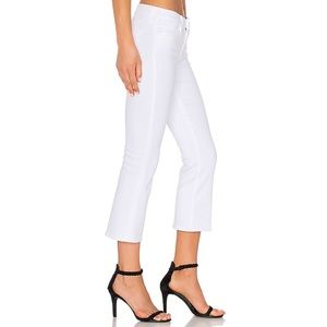 L'Agence Charlotte Crop Flare Jeans White Blanc 25